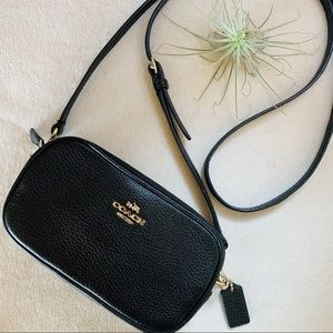 COACH Mini Crossbody Wallet Double Zip Bag EUC